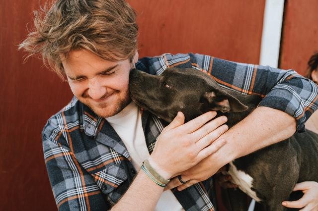 Man met hond