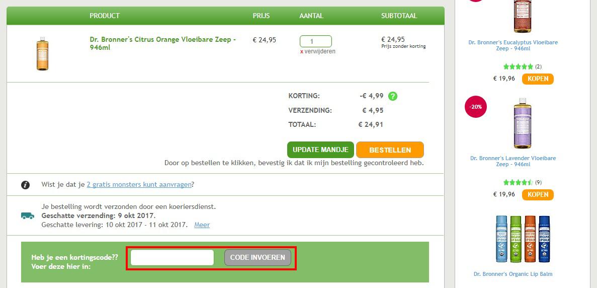 Big Green Smile kortingscode gebruiken
