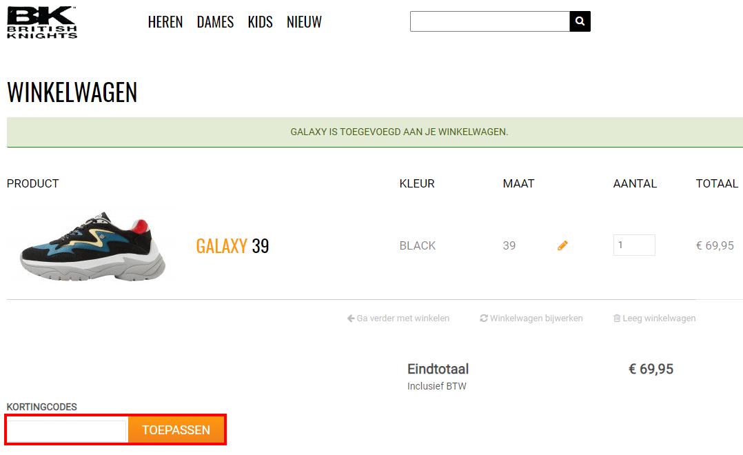 BK Footwear kortingscode gebruiken