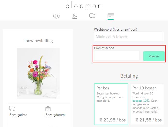 bloomon kortingscode gebruiken