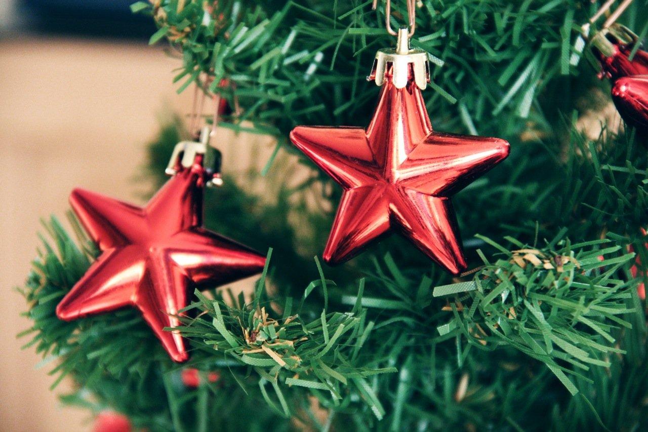 Sterren in een kerstboom