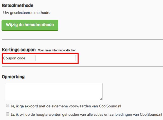 Coolsound kortingscode gebruiken