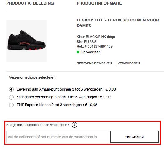 DC Shoes kortingscode gebruiken