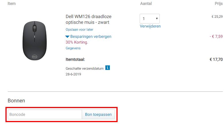 Dell kortingscode gebruiken