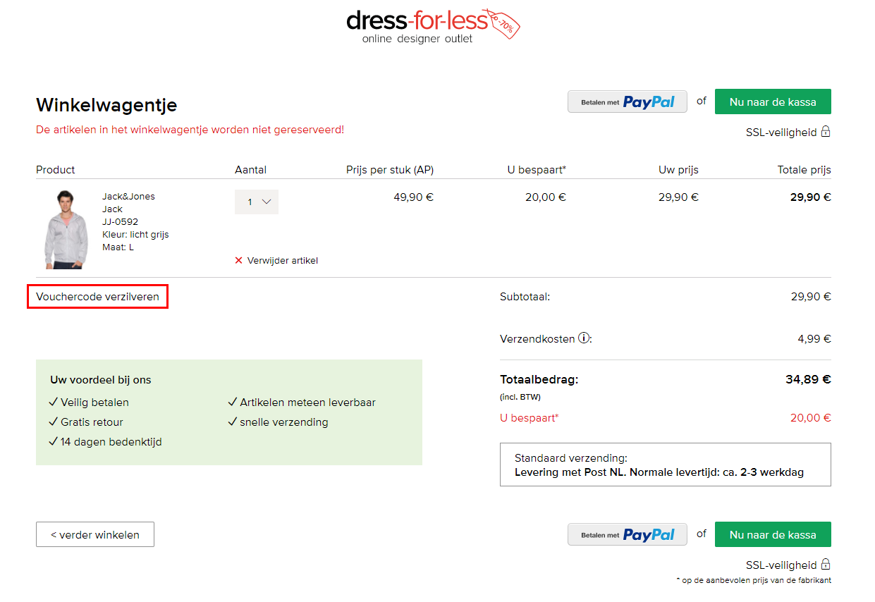 Dress For Less kortingscode gebruiken