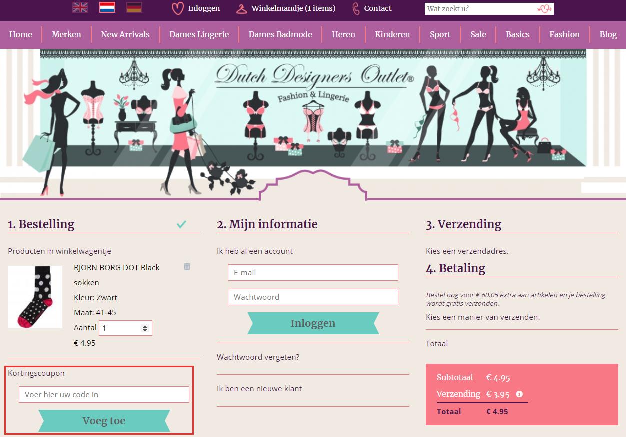 Dutch Designers Outlet kortingscode gebruiken