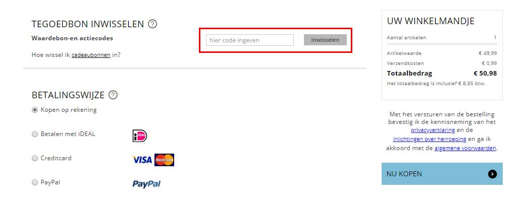 Esprit kortingscode gebruiken