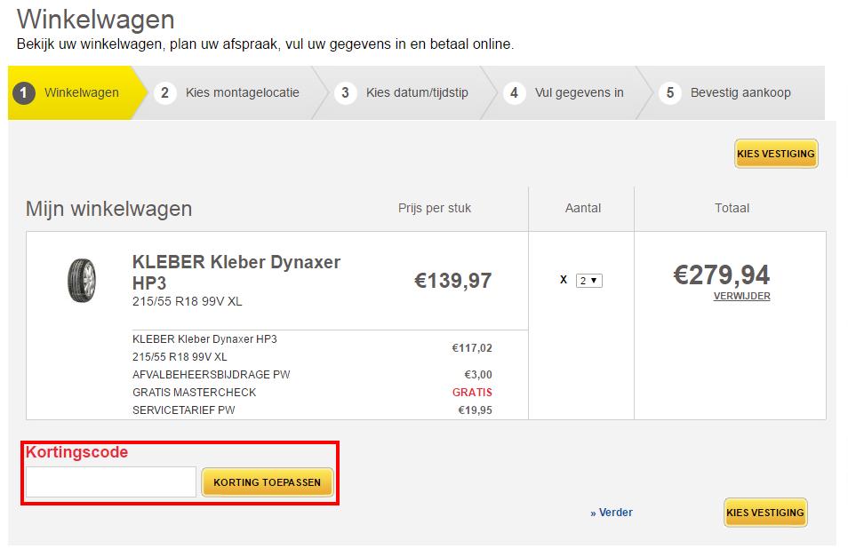 Euromaster kortingscode gebruiken
