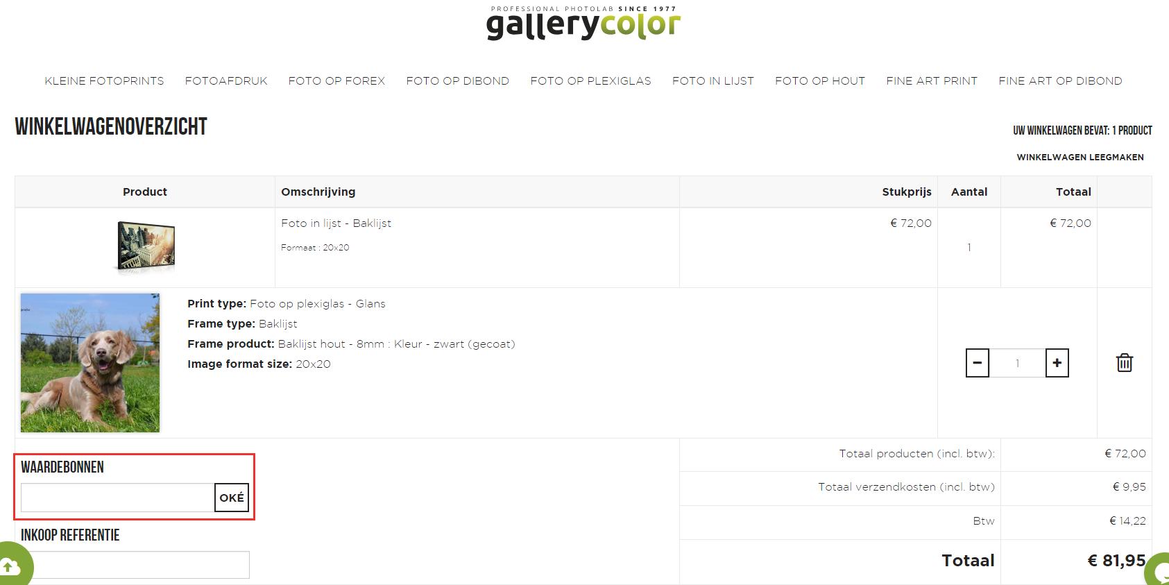 Gallery Color kortingscode gebruiken