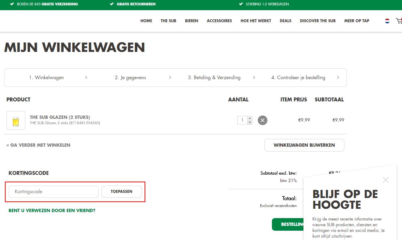 Heineken kortingscode gebruiken