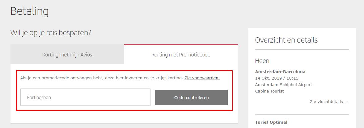Iberia kortingscode gebruiken