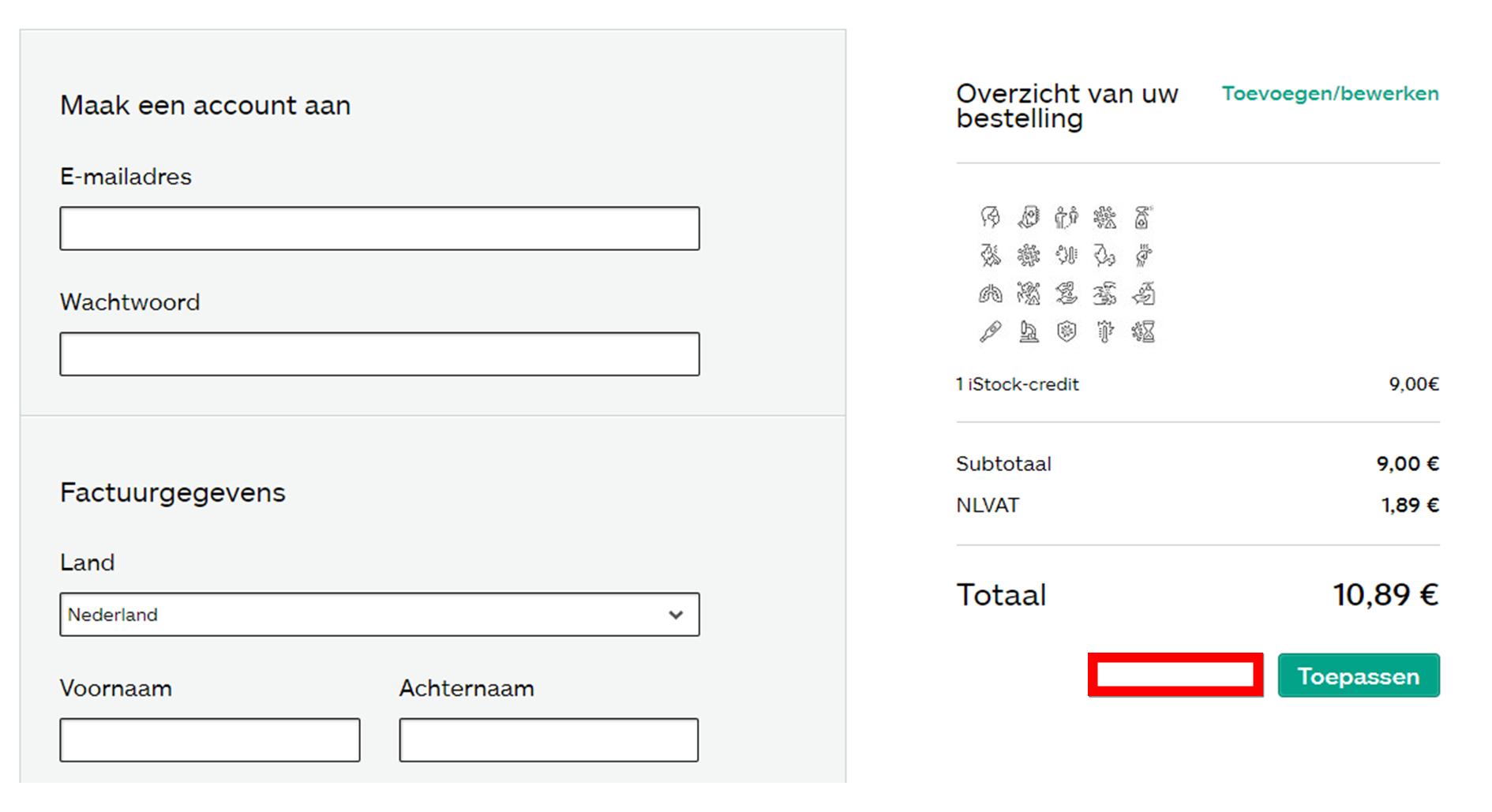 iStock kortingscode gebruiken