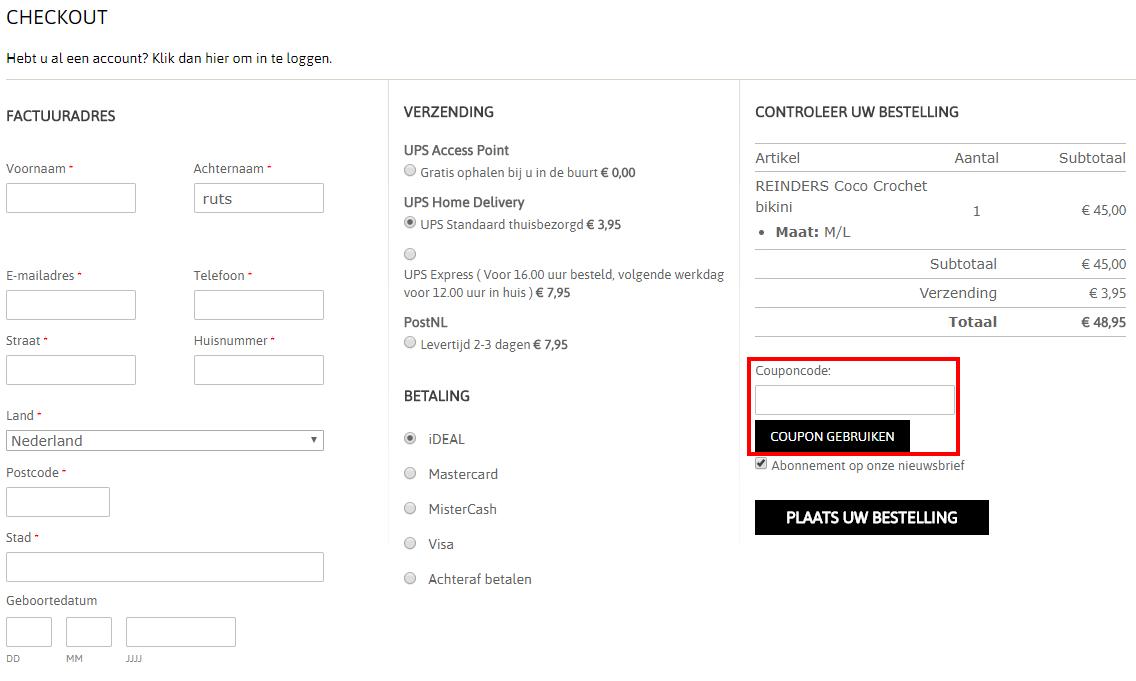 JHP Fashion kortingscode gebruiken