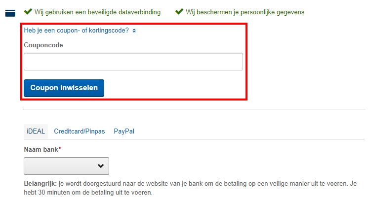 KLM kortingscode gebruiken
