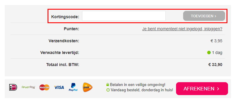 Lingeriebestellen.nl kortingscode gebruiken