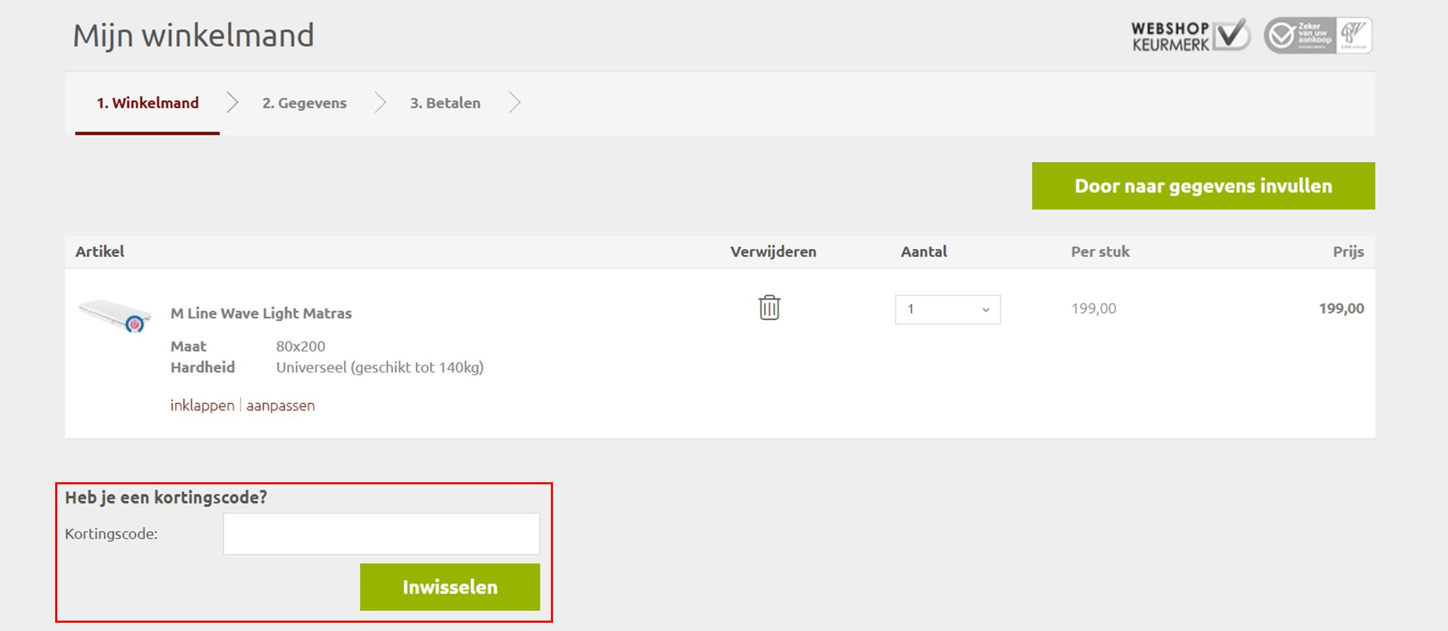 Luxebedden.nl kortingscode gebruiken