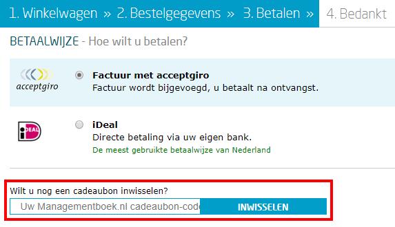 Managementboek.nl kortingscode gebruiken