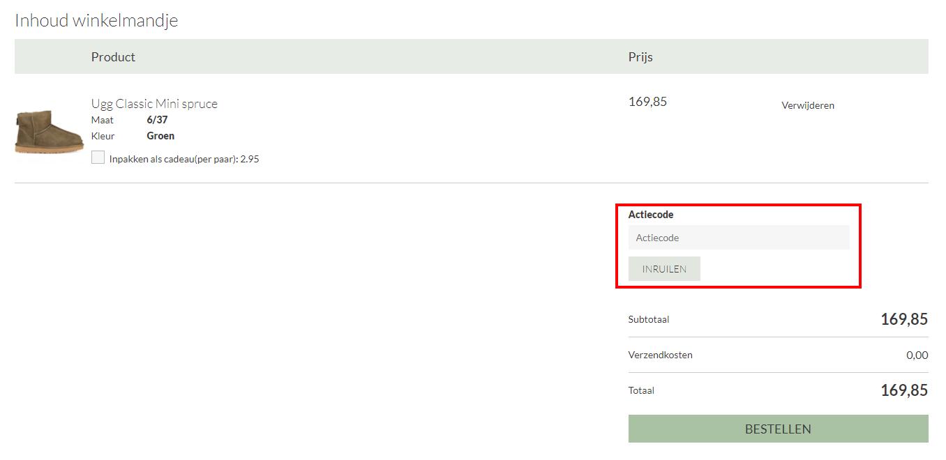 Mooieschoenen.nl kortingscode gebruiken