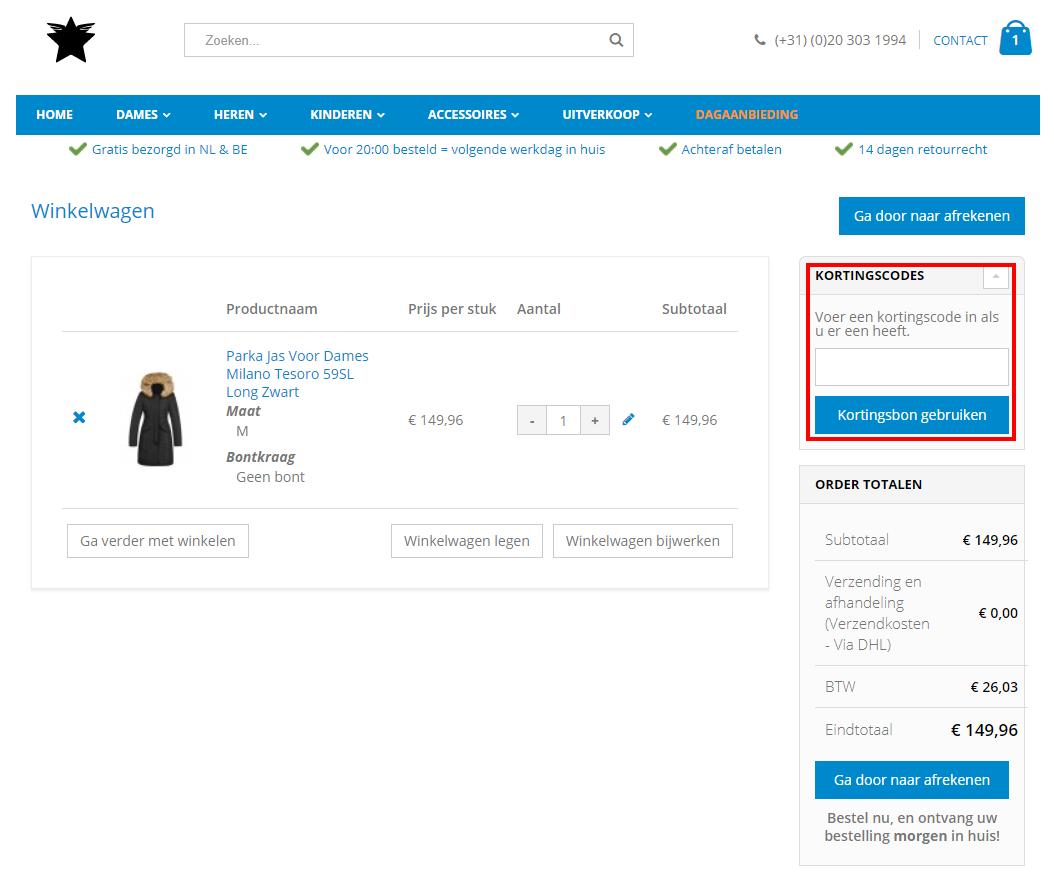 Onlinejaskopen.nl kortingscode gebruiken