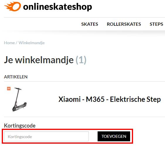 Onlineskateshop kortingscode gebruiken