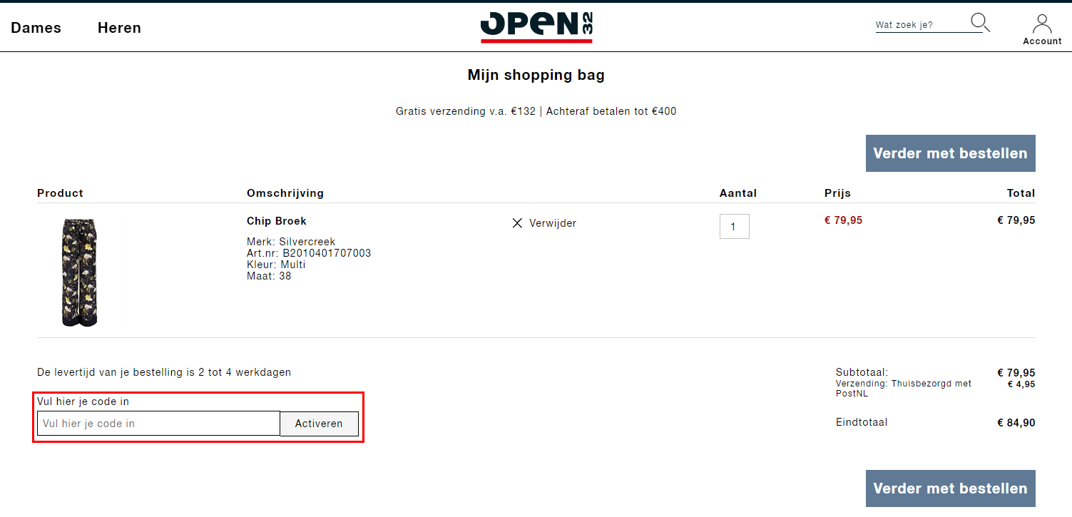 Open32 kortingscode gebruiken