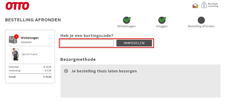 OTTO kortingscode gebruiken
