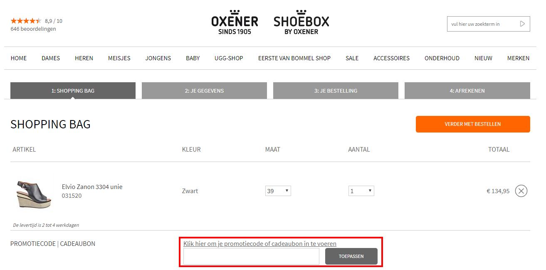 Oxenerschoenen kortingscode gebruiken