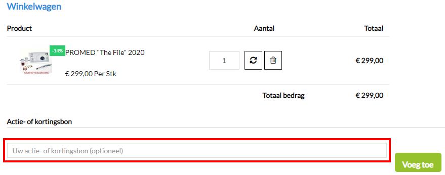 Pedimarkt kortingscode gebruiken