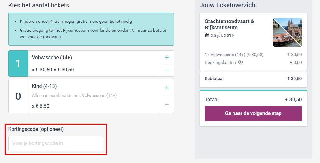 Rijksmuseum kortingscode gebruiken
