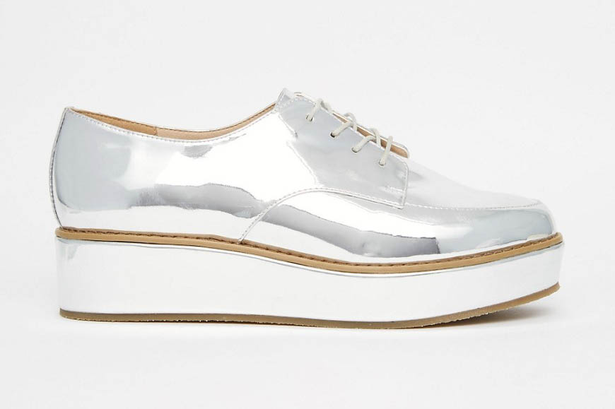 Metallic schoen