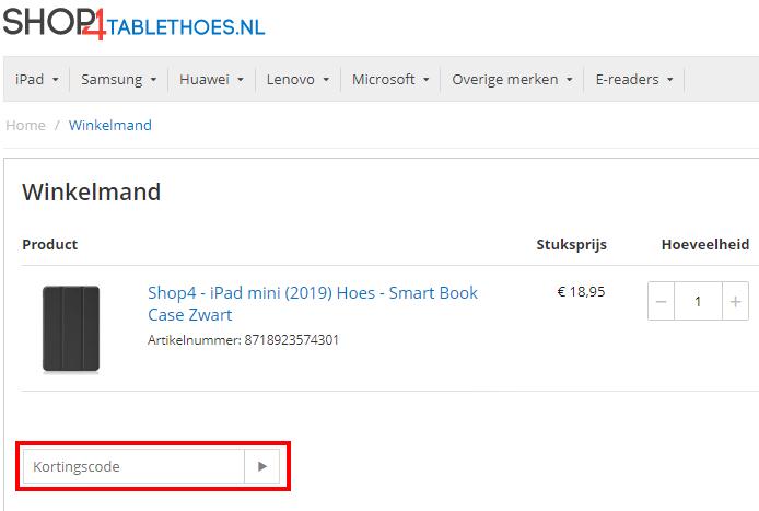 Shop4Tablethoes kortingscode gebruiken