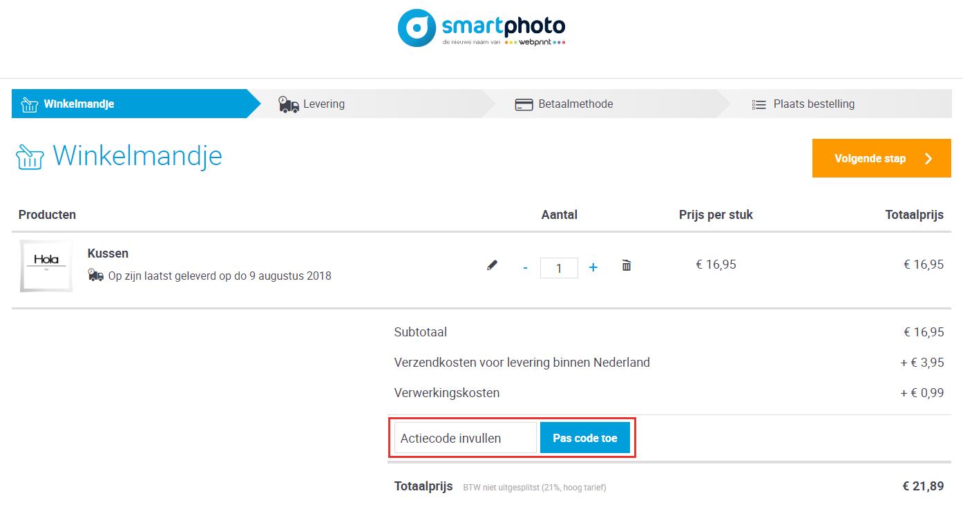 Smartphoto kortingscode gebruiken