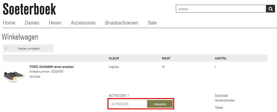 Soeterbeek Schoenen kortingscode gebruiken