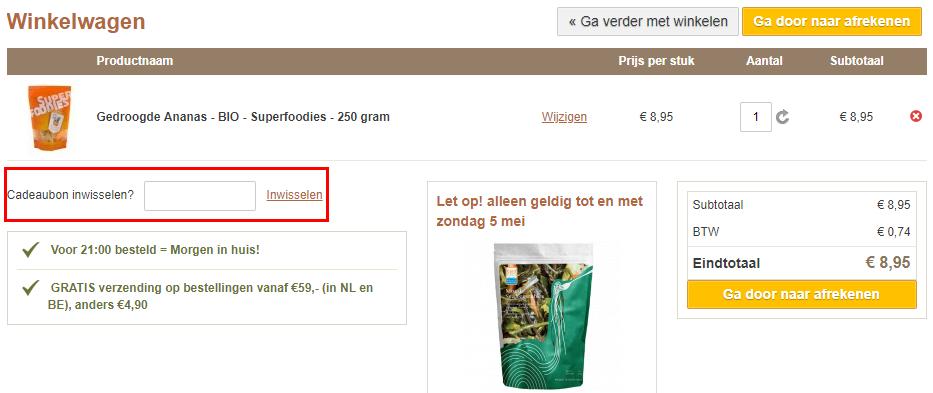 Superfood.nl kortingscode gebruiken