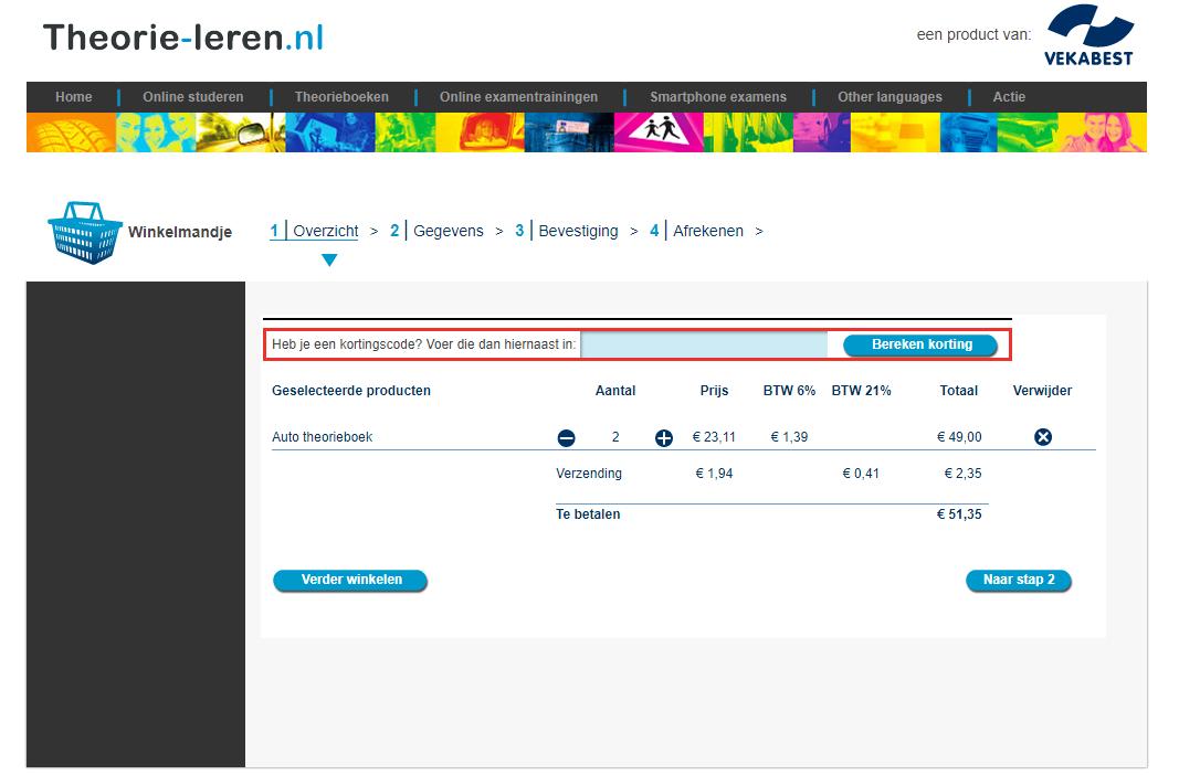 Theorie-leren.nl kortingscode gebruiken