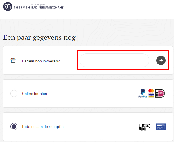 Thermen Bad Nieuweschans kortingscode gebruiken