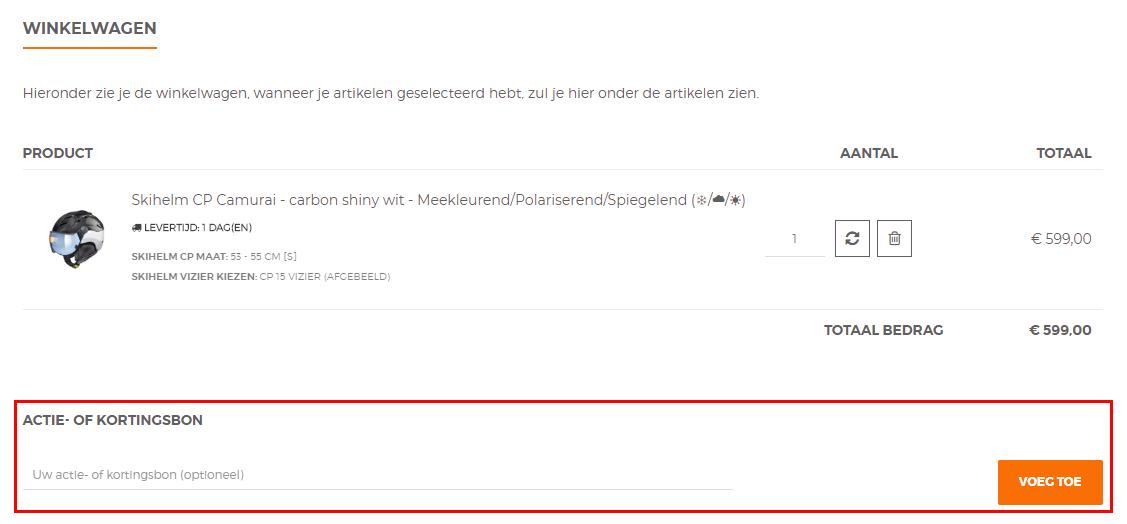 TopSnowShop kortingscode gebruiken