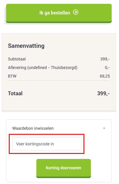Tuinmeubelshop kortingscode gebruiken