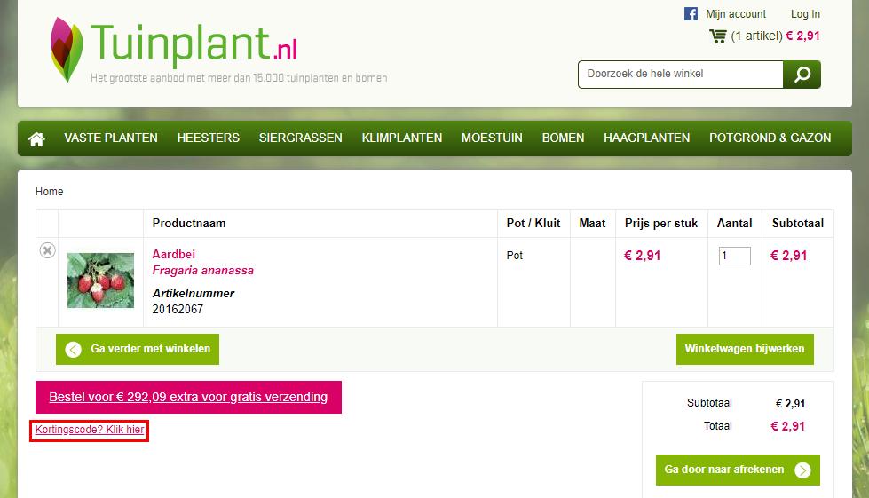 Tuinplant.nl-kortingscode-gebruiken