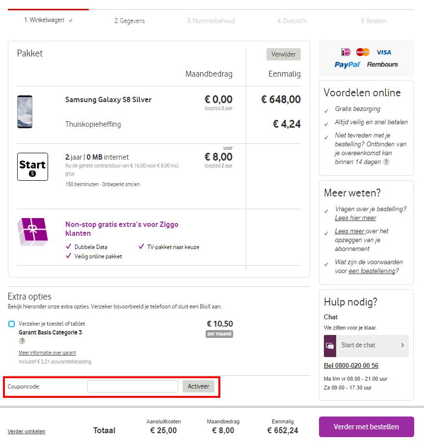 Vodafone kortingscode gebruiken