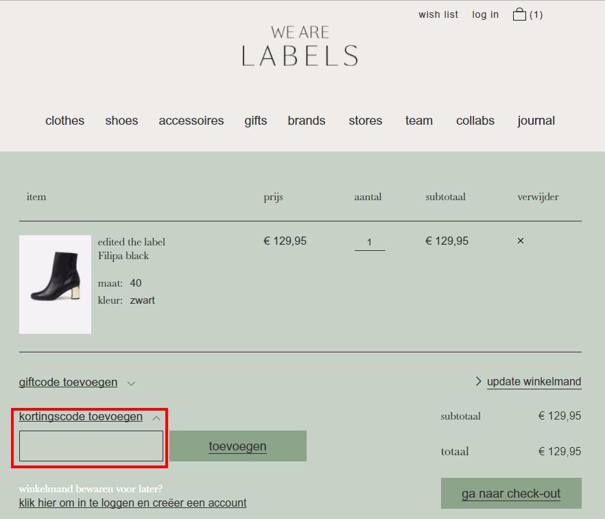 We Are Labels kortingscode gebruiken
