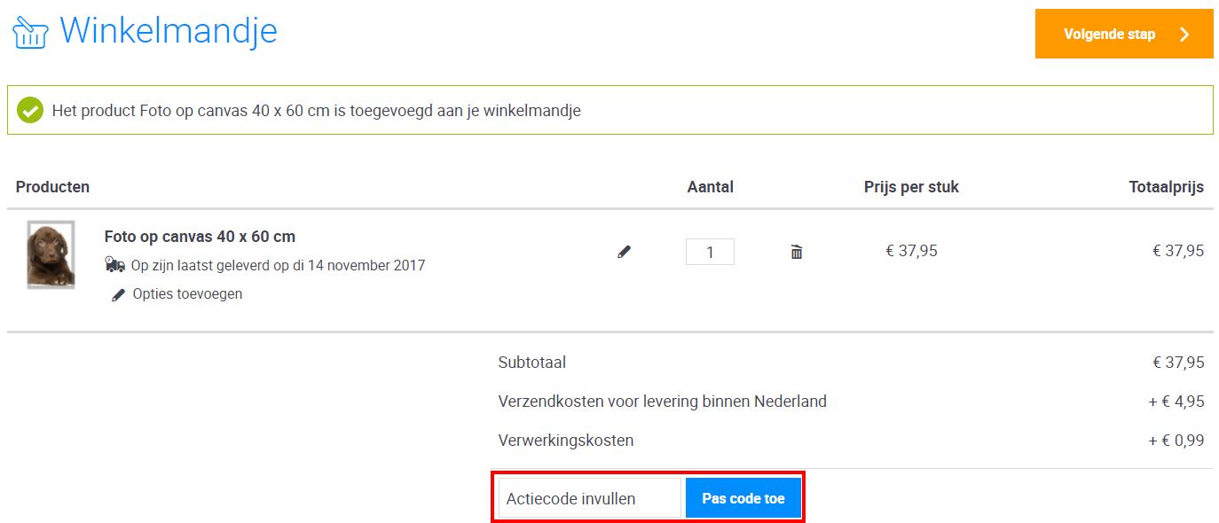 Webprint kortingscode gebruiken
