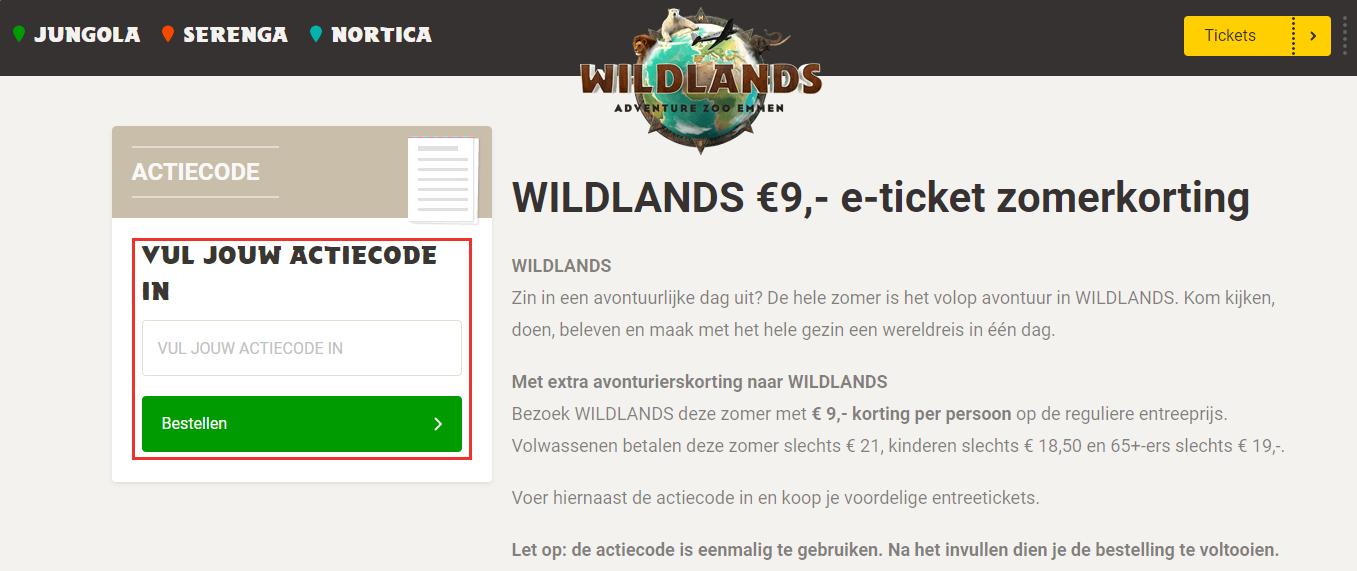 Wildlands-kortingscode-gebruiken