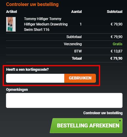 YourUnderwearStore kortingscode gebruiken