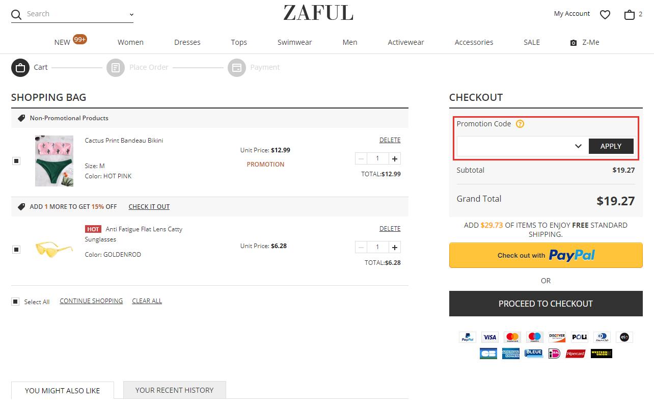 ZAFUL kortingscode gebruiken