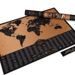 Bestel.nl | Bespaar nu 30% op een avontuurlijke wereldkaart krasposter