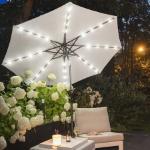 Groupactie | Nu 62% korting op een tuin parasol met LED verlichting
