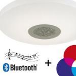 LampOnline geeft €40,- korting op een Heka LED plafondlamp met bluetooth luidspreker