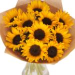 Bestel nu een Zonnebloemen fiesta met 5% korting bij Euroflorist