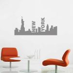 Koop nu een New York Skyline muursticker met 54% korting | Muurmode